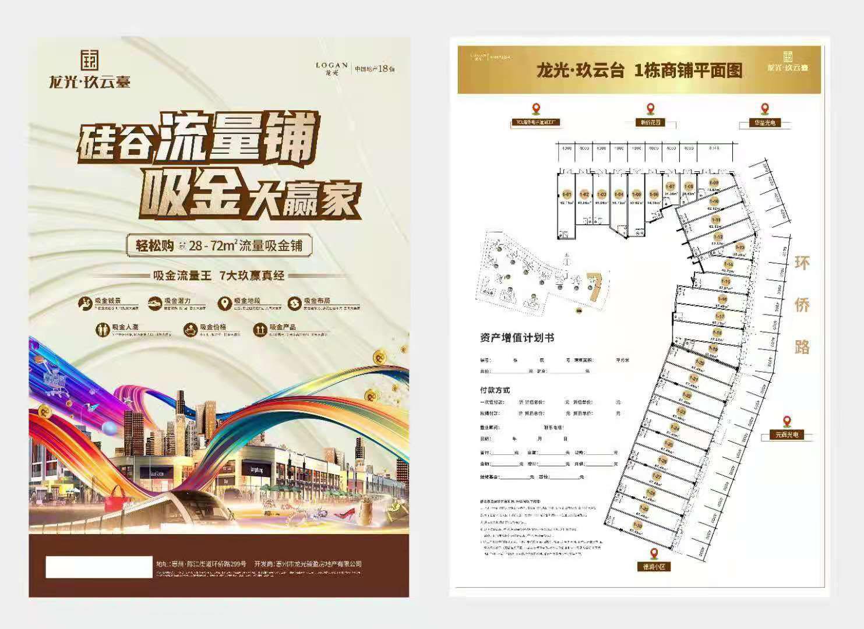 惠州市仲恺区商铺出售:龙光玖云台28-72㎡ 硅谷流量铺